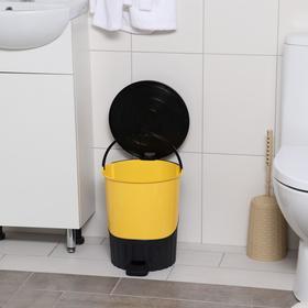 Ведро для мусора с педалью, 14 л, цвет МИКС - фото 4645335