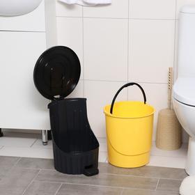 Ведро для мусора с педалью, 14 л, цвет МИКС - фото 4645336
