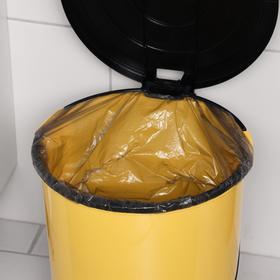 Ведро для мусора с педалью, 14 л, цвет МИКС - фото 4645337
