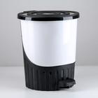 Ведро для мусора с педалью, 14 л, цвет МИКС - фото 4645341