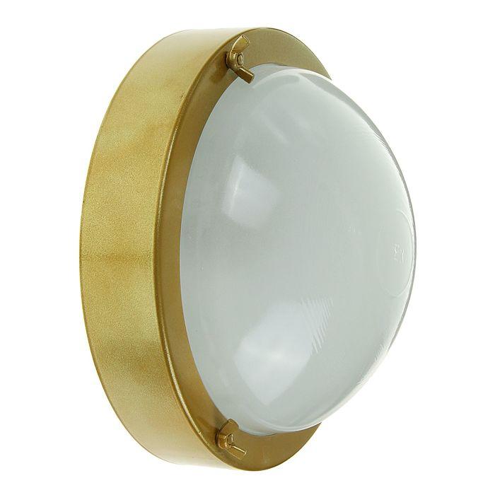 """Светильник """"ЭЛЕТЕХ"""" Терма 1 НББ 03-100-001, 100 Вт, IP65, цвет золото, до +140°С"""
