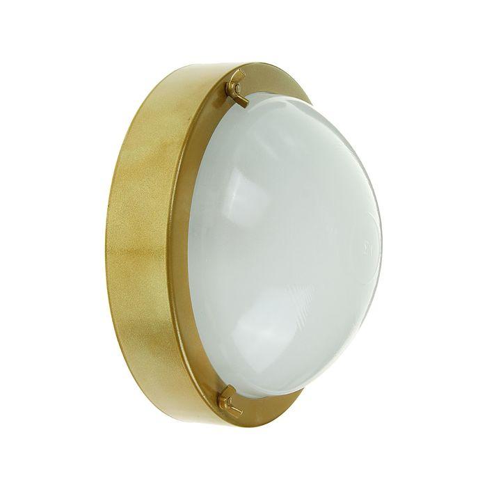 """Светильник """"ЭЛЕТЕХ"""" Терма 3 НББ 03-60-003, 60 Вт, IP65, цвет золото, до +140°С"""