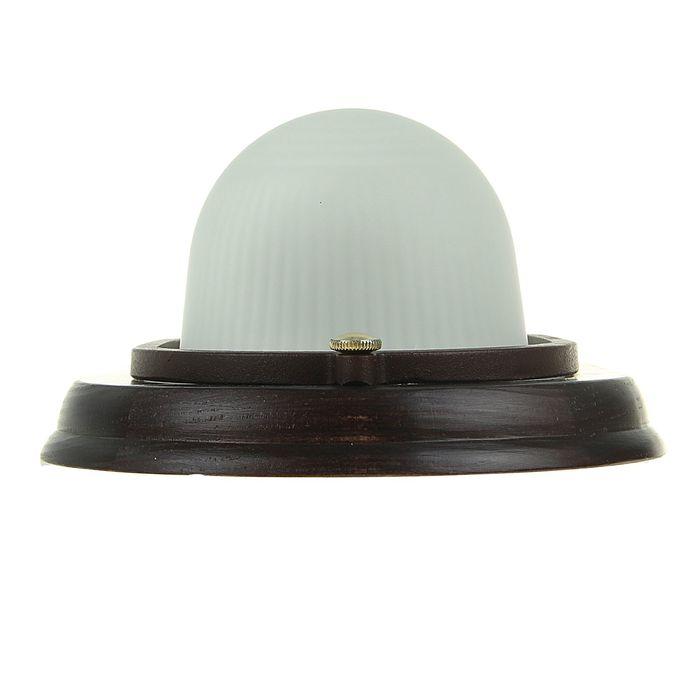 """Светильник """"ЭЛЕТЕХ"""" Самарканд 1401 Овал НПП 03-60-021, 60 Вт, IP65, венге"""