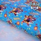 """Щенячий патруль. Бумага упаковочная глянцевая """"С днем рождения! Улыбайся"""", 100х70 см"""