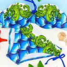 Купальник женский раздельный 1601 цвет голубой, р-р 44 (38) чашка B