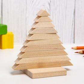 Детская пирамидка «Ёлочка», деревянная, материал: берёза