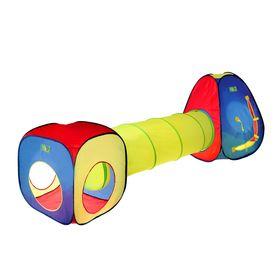 Игровая палатка «Цветные фигуры» с туннелем, МИКС
