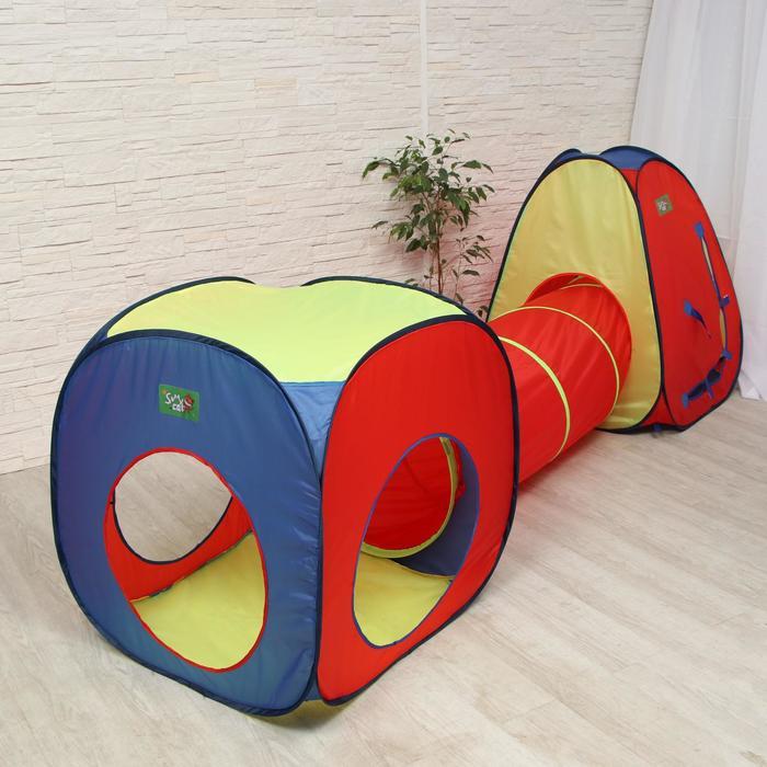"""Игровая палатка """"Цветные фигуры"""" с туннелем"""