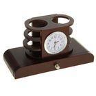 Набор настольный: часы, блок для бумаги, 2 подставки для ручек