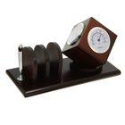 Набор настольный: часы, термометр, гигрометр, подставка для ручки, визитница