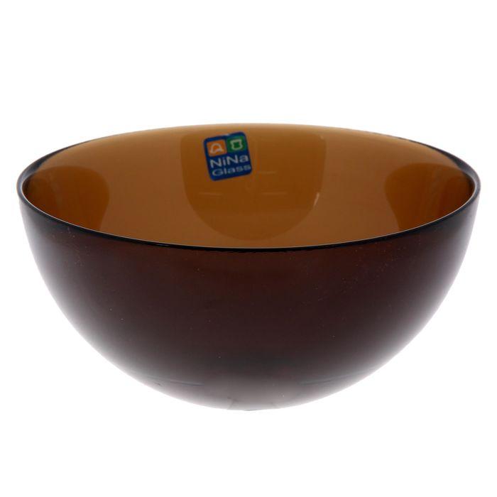 """Салатник 500 мл """"Лагуна"""", 15 см, цвет дымчатый"""