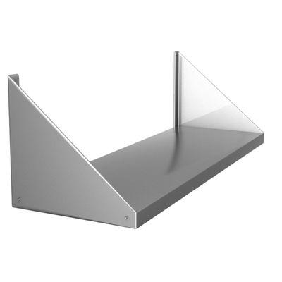 Полка навесная, н/ж сталь, 1500х250