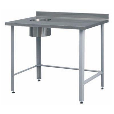 Стол для отходов (ножки регулимруемые), полим. покр., 1000х600х860