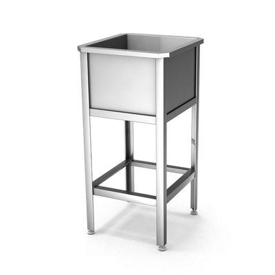 Ванна моечная-односекционная, н/ж сталь, 500x500x860