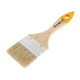Flat brush Hobbii / Remocolor Lover, 63 mm, wood handle, natural bristle