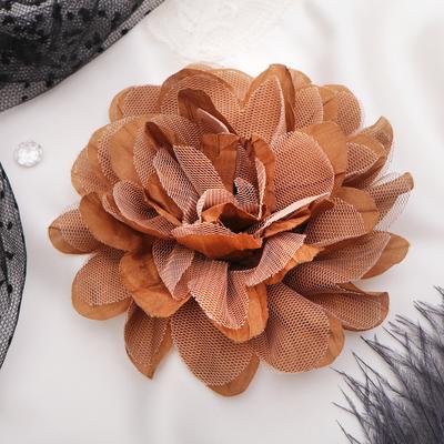 """Брошь """"Цветок дива"""" цвет светло-коричневый"""