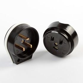 Разъем для плиты Smartbuy РШ-ВШ, 2P+PE, ОУ, 32 А, 250 В, карболит, черный