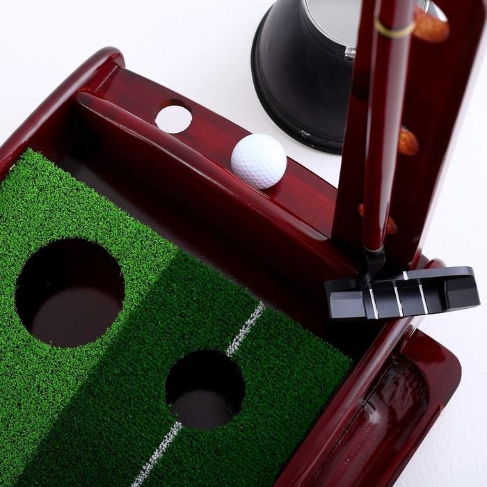 Набор для портативного гольфа: дорожка с 2 лунками, 3 м, клюшка и 2 мячика