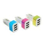 Автомобильное зарядное устройство LuazON, LPA-09, 3 USB, 3.1/2.1/1 А, МИКС