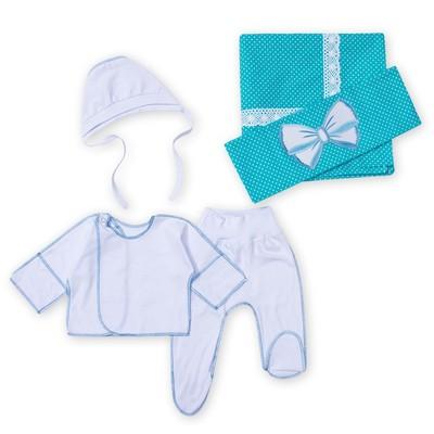 """Комплект на выписку """"Капелька"""" (5 предметов), цвет голубой К23-42-5Б"""