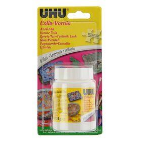 Клей для творчества UHU Colle-Vernis 150 мл для украшений, декупажа (не содержит растворителей)