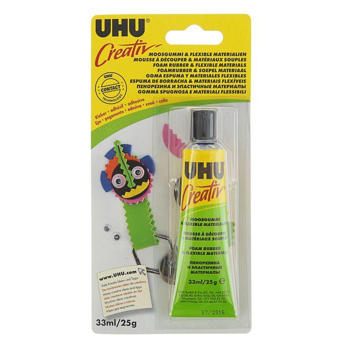 Клей для творчества UHU Creativ для пенорезины 33 мл 47198/47195
