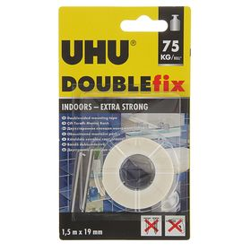 Клеящая лента UHU Doppel Band двусторонняя, 19 мм х 1.5 м, для мелкого ремонта
