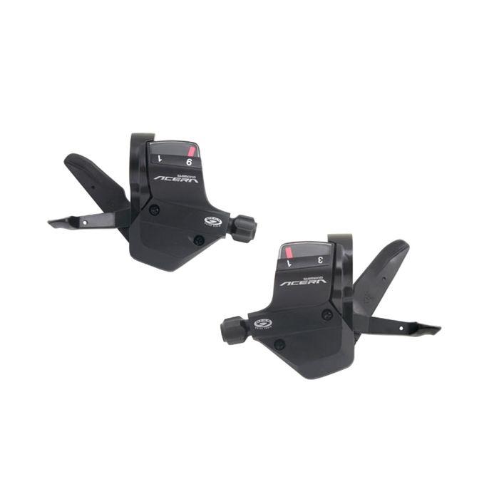 Шифтеры Shimano Acera M390, левый и правый, 3x9 скоростей, трос и оплётка