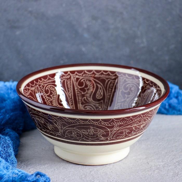 Коса большая Риштанская Керамика, 18см, коричневая