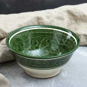 Коса большая Риштанская Керамика, 18см, зелёная