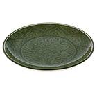 Ляган круглый, 31 см, риштанские узоры, зелёный