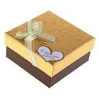 "Коробка подарочная ""Блестка"", золотой, 11 х 11 х 5 см"