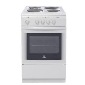 Плита электрическая De Luxe 506004.04 Э, 4 конфорки, 54 л, эмаль, белая