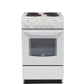 Плита De Luxe 5004.12 Э, электрическая, 4 конфорки, 43 л, эмаль, без гриля, белая