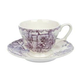 Чашка с блюдцем «Инглиш принтс Флинт», 200 мл