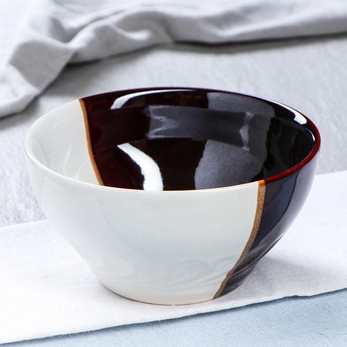"""Салатник """"Бело-коричневый"""", 0,8 л - фото 650783"""