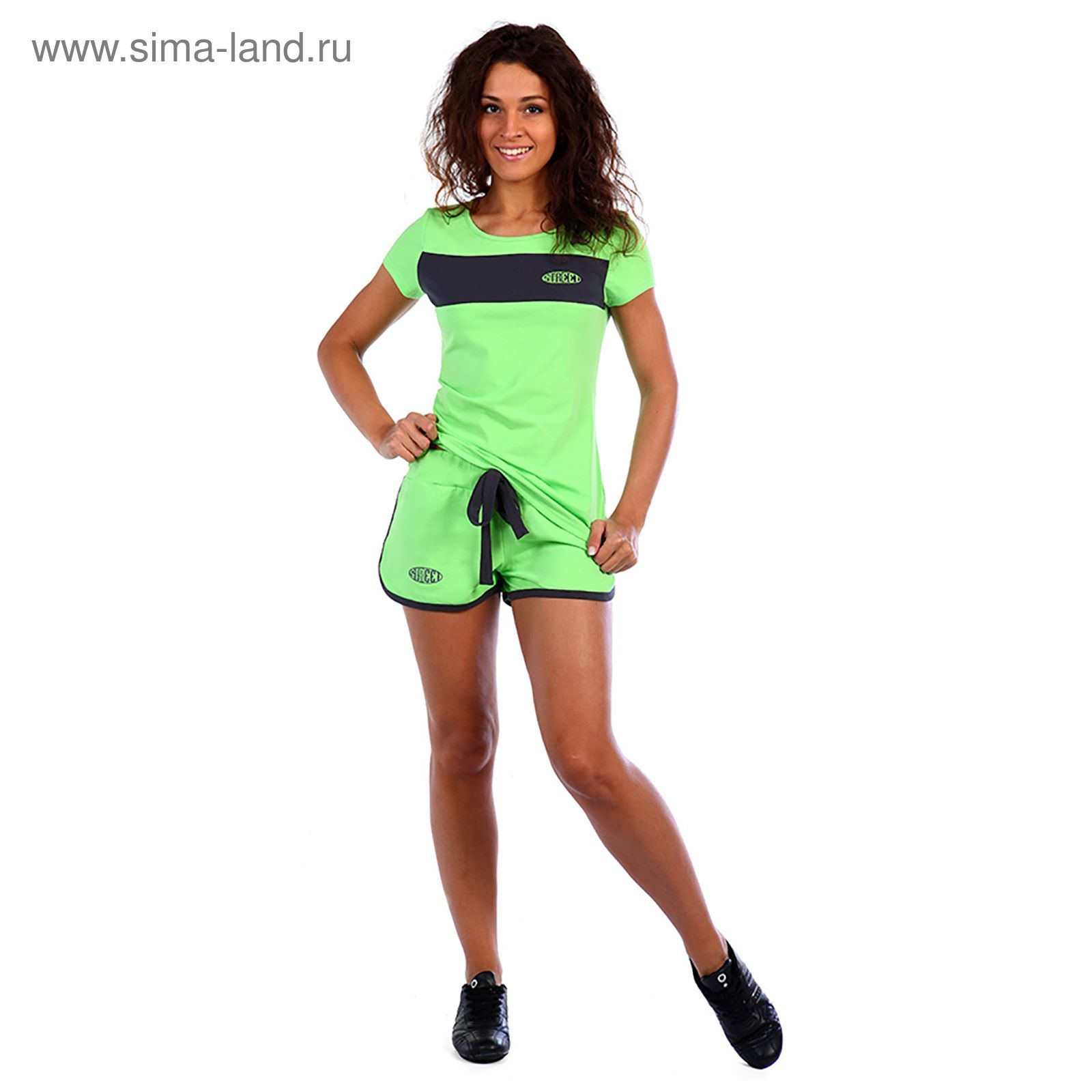 d7529e5a41bf Костюм женский (футболка, шорты) Доминика цвет салатовый, р-р 48 ...