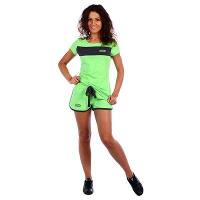 Костюм женский (футболка, шорты) Доминика цвет салатовый, р-р 52