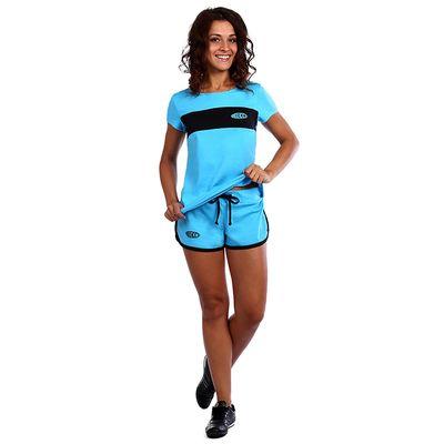 Костюм женский (футболка, шорты) Доминика цвет бирюзовый, р-р 44