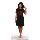Платье женское Звезды-2 с коротким рукавом цвет чёрный, р-р 44