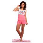 Пижама женская (майка, шорты) Незабудка цвет коралловый, р-р 42