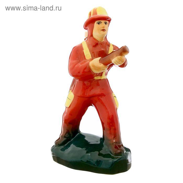 """Штоф """"Пожарник"""" красный, 0,5 л"""