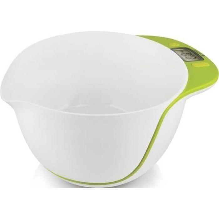 Весы кухонные Vitek VT-2402 G, электронные, до 5 кг, белый/зеленый