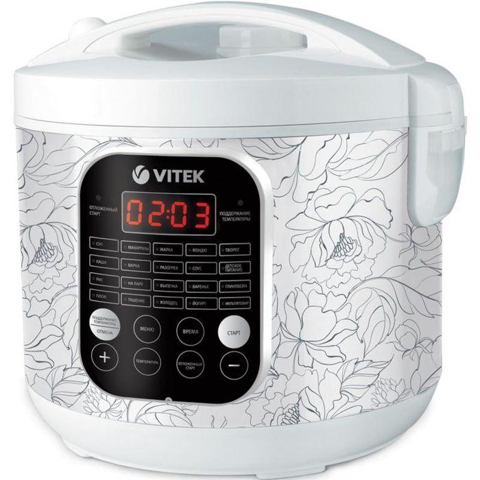 Мультиварка Vitek VT-4270 W, 900 Вт, 5 л,  20 авт. программ, мультиповар, отложенный старт