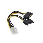 Кабель-разветвитель питания Cablexpert CC-PSU-83, 2xSATA(m)-PCI-Express(8pin)(f), 0.15 м