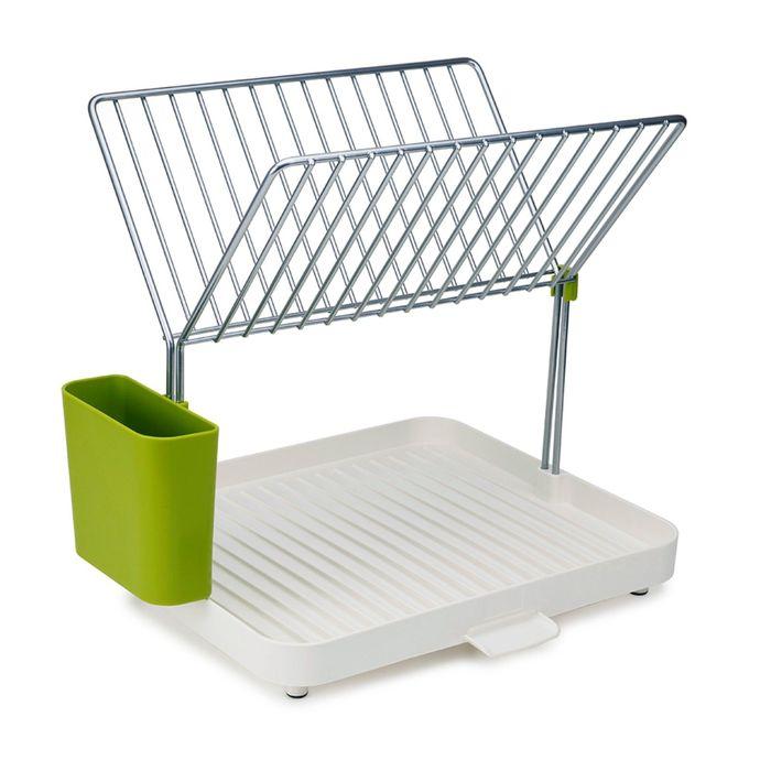 Сушилка для посуды Joseph Joseph Y-rack бело-зелёный, 2-уровневая, со сливом