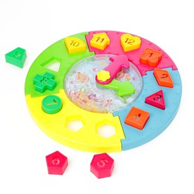 Развивающая игрушка «Сортер-часики»