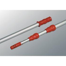 Ручка для стекломойки Vileda, металлическая, телескопическая, 2 х 125 см, цвет красный