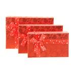 """Набор коробок 3в1 прямоуг """"Сердца"""" (13*11*5.5/20*13*6/22*15*6.5 см), красный"""