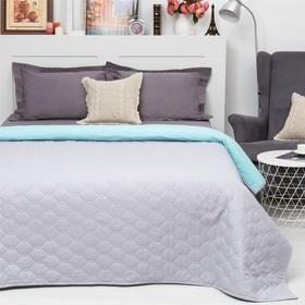 Покрывало Этель Ультрастеп Краски сна, размер 180х215 см, цвет серо-голубой, 90 г/м2